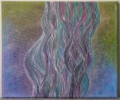 Tulossa ja menossa / 66€ / 25 x 30 cm / alkoholitussi ja akryylitussi / ripustusvalmis canvas