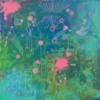 MYYTY / Hyvän monet maailmat / 30 x 30 x 4 cm / akryyli, akryylitussi / ripustusvalmis canvas / 2020