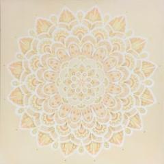 Rauhan Ruhtinatar / 222€ / 40 x 40 cm / akryyli, akryylitussi / ripustusvalmis canvas / 2020