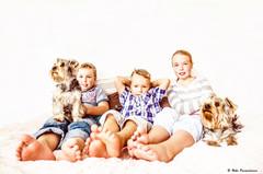 lapset ja koirat Potretti