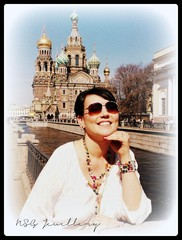 Johanna wearing multicolour NSG Jewellery set