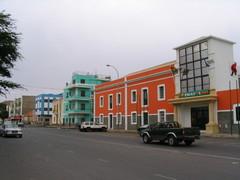 Mindelon keskustan värikkäitä rakennuksia