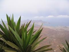 Monte Verden vuorella, alhaalla Mindelo