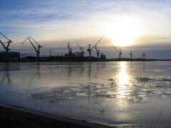 Raision venesatama, näkymä telakalle