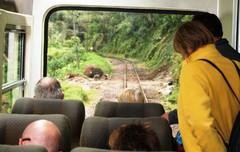 Maanvyörymä matkalla Machu Picchulle