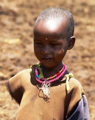 Poika Masai-kylässä