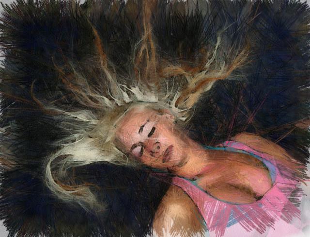 Lepäävä nainen