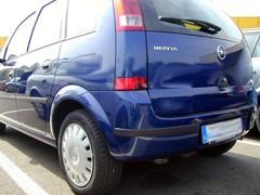 Puskurien suojalistat Opel Meriva 2003_1