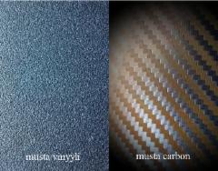 musta, vinyyli ja carbon, tarrakalvot