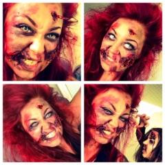 Zombie teemaista maskia tässä omaan naamaan ;)