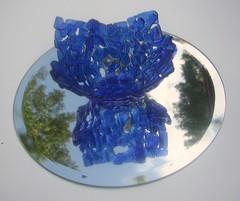 sininen kynttilalasi