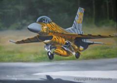 F-16, öljyväri