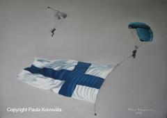 Suomenlippu ja hyppääjät