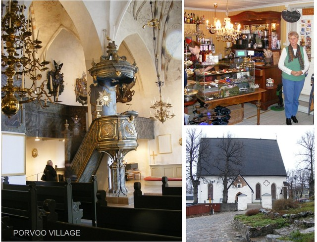 Porvoo church & shop