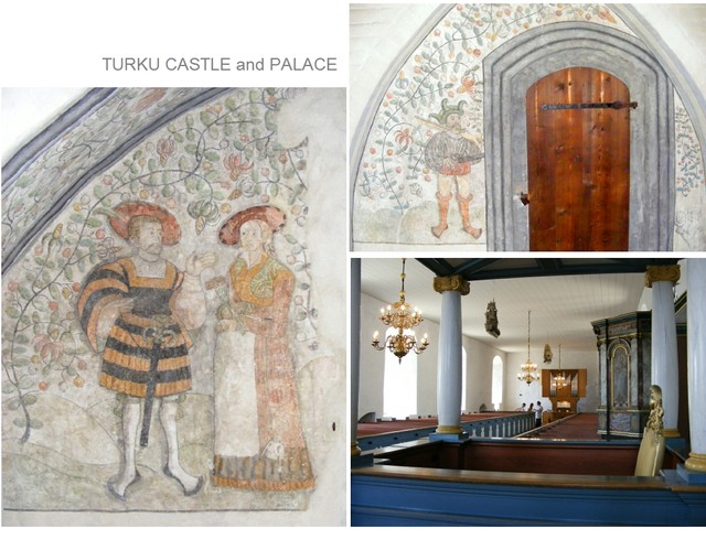 Turku castle frescoes