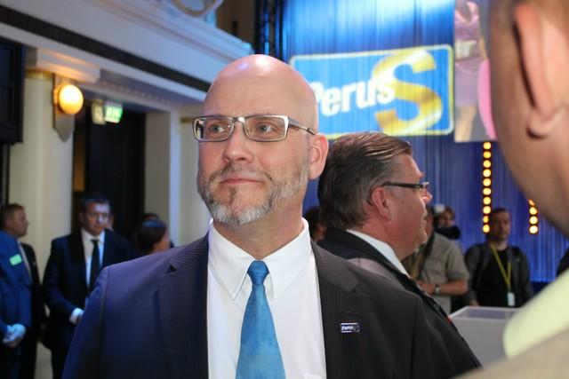 Pekka eurovaalien valvojaisissa 2014