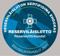Reserviläisliiton sertifioima ehdokas - Pekka M. Sinisalo 85