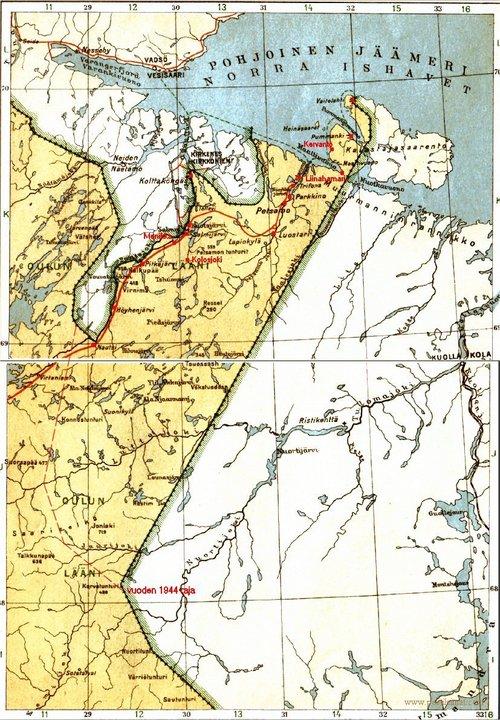 Petsamon Kartta Turjanmeren Maa Petsamo Seura Ry N Kotisivut