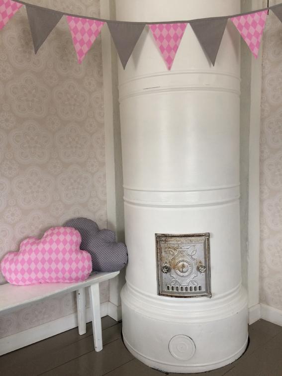 Vaaleanpunainen Pilvi tyyny  Piccu  Kodin tekstiilit  Lasten lakanat  Va