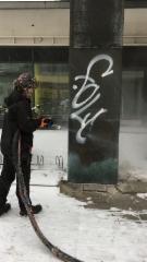 Graffitin poistoa