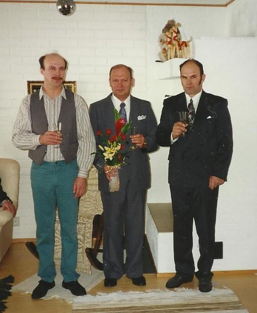 Vas. Seppo, Veli ja Pentti Piitulainen.