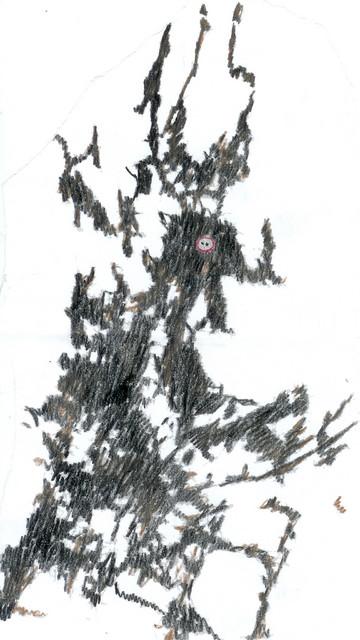Kuva 27. Seitsemän miljardia ihmistä Inarijärven jäällä