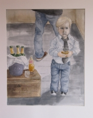 taidenayttelyssa_akvarelli