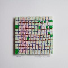 maalaus 19cmx19cm akvarelli ja akryyli paperille
