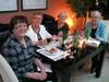 Riitta, Irma, Rauni ja Marita illalisella