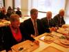 Marja-Liisa, Olli, Heikki ja Antero nauttivat myös lounaasta