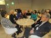 Pöydän ääressä vas. Mirja Sydänmaa, Sirkku Närevirta, Riitta Eronen, Seija Tuominen, Leena Larkas ja Aimo Muuronen