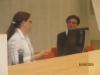 Katriina Tala (oikealla) valittiin kokouksen puheenjohtajaksi ja Kukka-Maaria Palojoki kokouksen sihteeriksi