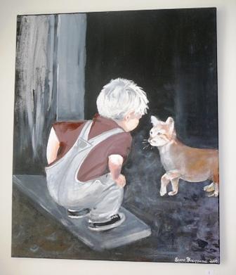 poika ja kissa, saara raappana