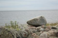 Iso kivi meren rannalla