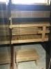 Tervaleppä lauteet massiivi selkänojalla sekä väliritilällä