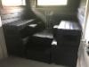 Penkki ylälauteet, massiivi nousupenkki, massiivi rahit, Libero musta sävytys + suojaöljy