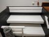 Kotimainen kuusilankku 48x200mm + liberon valkoinen sävytys lauteissa sekä liberon musta paneeleissa