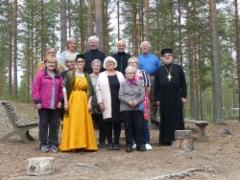Yhteiskuvassa ortodosialeiriläisiä