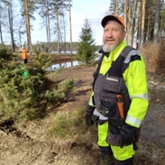 4. Pekka Hytönen tuli talkoisiin Haapavedeltä asti