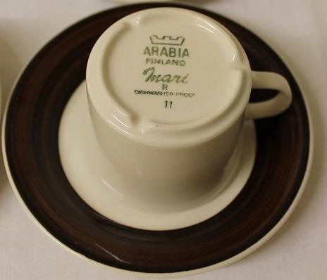 6 kpl Arabia Inari kahvikuppeja | Pusurinpuoti.com - Antiikkia, rustiikkia ja mummolan aarteita.