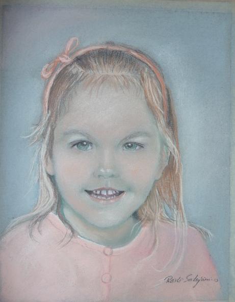 Rusettihiuksinen tyttö