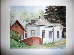 Hiljaisuuden talo, luostarin kupeella