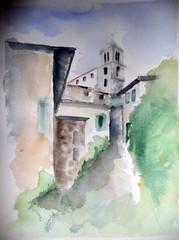 Kirkko keskellä kylää