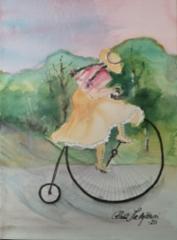 Tyttö ja pyörä