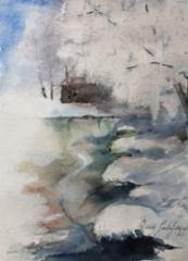 Pakkasaamu joella