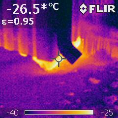 Lämpökamera, ulkonurkka, sokkeli