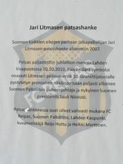 Jari Litmasen patsashanke