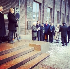 Reijo Huttu puhuu. Ville Skinnari ja Paavo Lipponen kuuntelevat. Kuva: Lena Morgan.