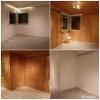 Paneelit maalattu, lattia ja ovet uusittu.