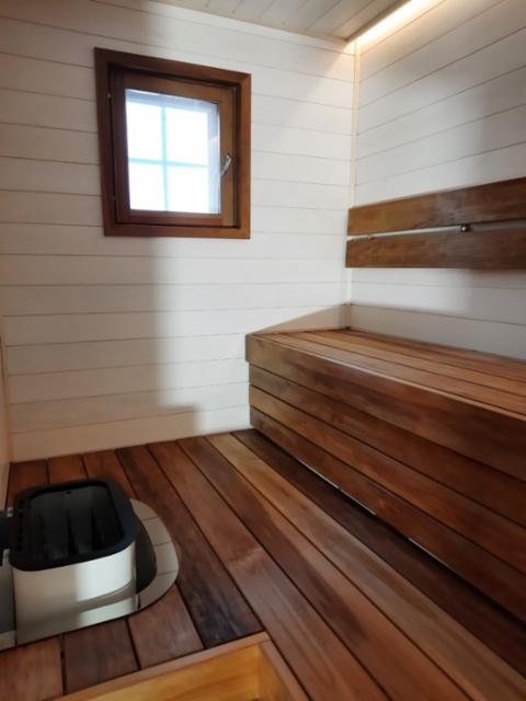 Uusi sauna Siparilaa ja Lämpöhaapaa